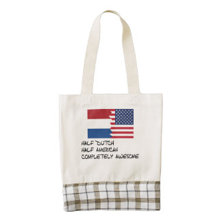 Half Dutch Completely Awesome Zazzle HEART Tote Bag