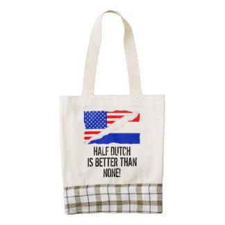 Half Dutch Is Better Than None Zazzle HEART Tote Bag