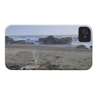 Half-eaten meat and champagne Case-Mate iPhone 4 cases
