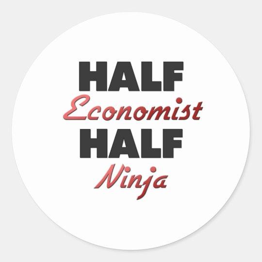 Half Economist Half Ninja Classic Round Sticker