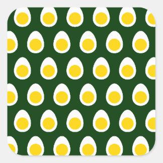 Half Egg Pattern Square Sticker