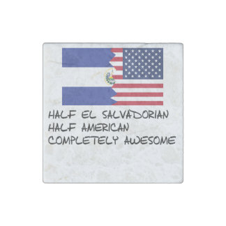 Half El Salvadorian Completely Awesome Stone Magnet