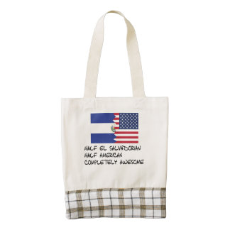 Half El Salvadorian Completely Awesome Zazzle HEART Tote Bag