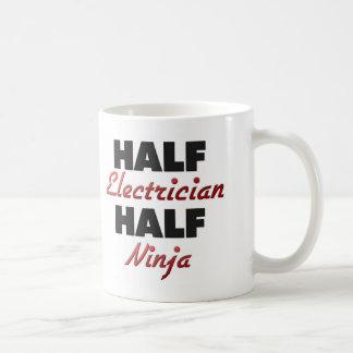 Half Electrician Half Ninja Classic White Coffee Mug