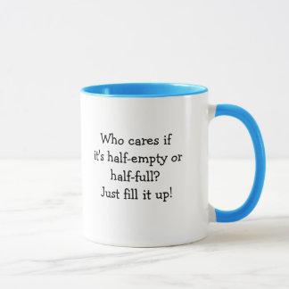 Half-empty Coffee Mug