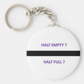 half empty full keychain
