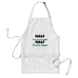 Half Energy Conservation Officer Half Zombie Slaye Aprons