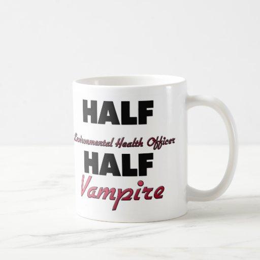 Half Environmental Health Officer Half Vampire Classic White Coffee Mug