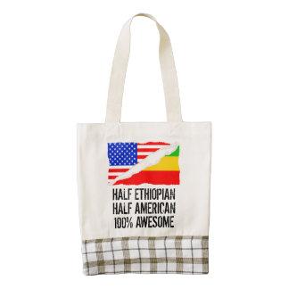 Half Ethiopian Half American Awesome Zazzle HEART Tote Bag