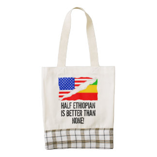 Half Ethiopian Is Better Than None Zazzle HEART Tote Bag