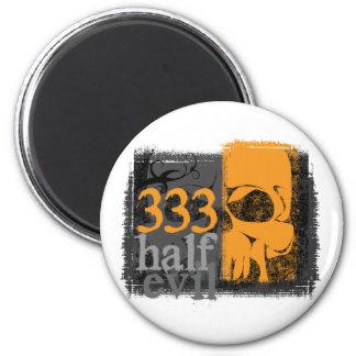 Half evil 333 refrigerator magnets