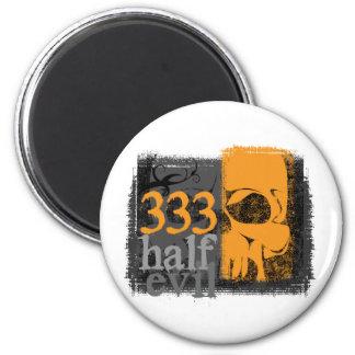 Half evil 333 fridge magnet