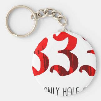 Half Evil Key Chain