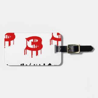 half evil luggage tag