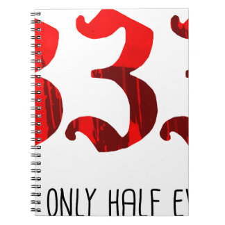 Half Evil Spiral Notebook