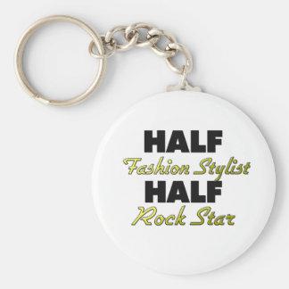 Half Fashion Stylist Half Rock Star Key Chain
