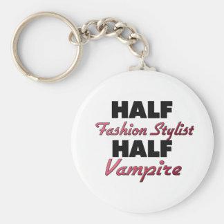 Half Fashion Stylist Half Vampire Key Chain