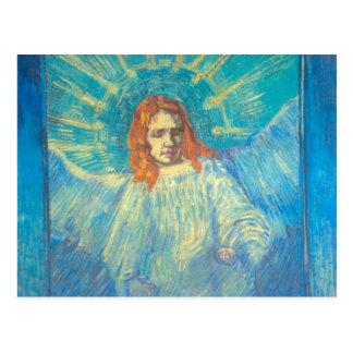 Half Figure of an Angel by Van Gogh, Vintage Art Postcard