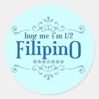 Half Filipino Classic Round Sticker