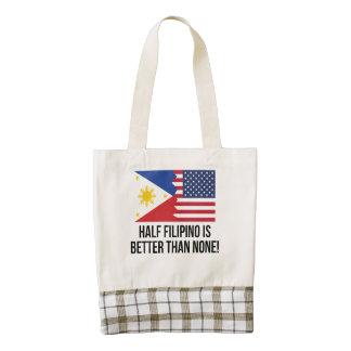 Half Filipino Is Better Than None Zazzle HEART Tote Bag