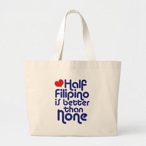 Half Filipino ... Jumbo Tote Bag