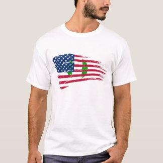 HALF FLAG NIGERIAN AMERICA T-Shirt