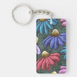 Half Flowers Keychain