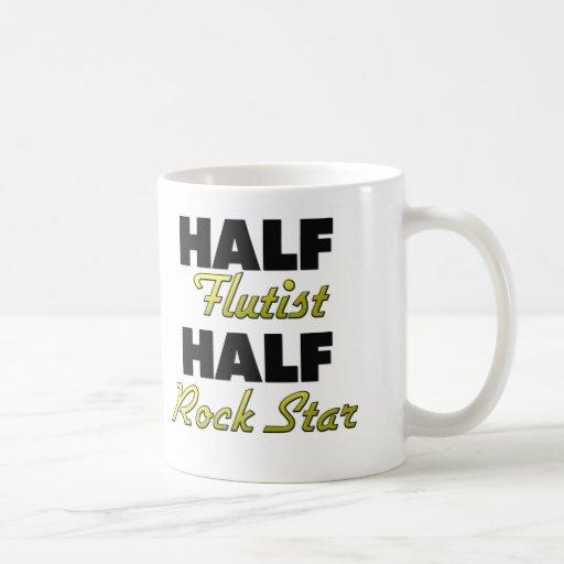 Half Flutist Half Rock Star Coffee Mugs