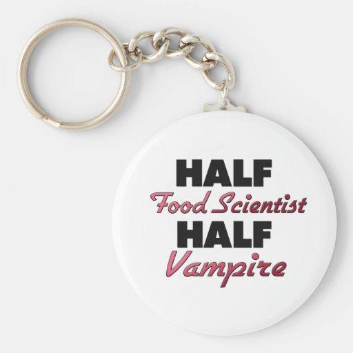 Half Food Scientist Half Vampire Key Chain