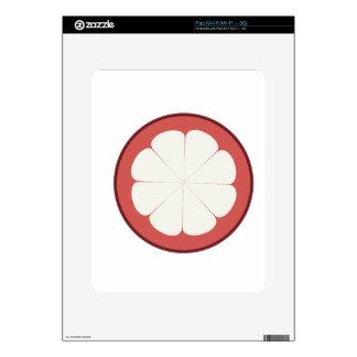 half fruit design skin for iPad