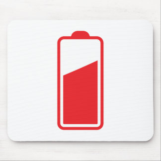 Half full red battery mouse pad