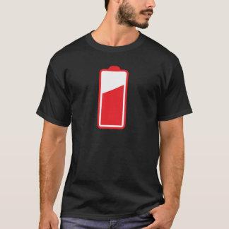 Half full red battery T-Shirt