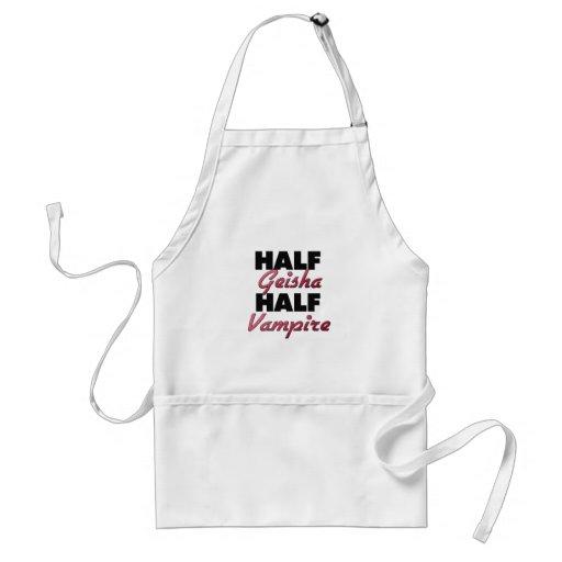 Half Geisha Half Vampire Apron
