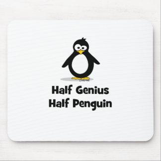 Half Genius Half Penguin Mouse Pad