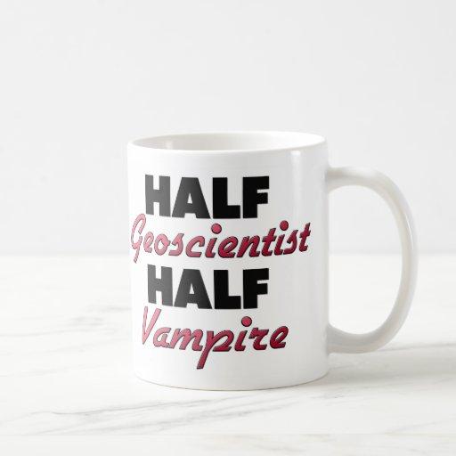 Half Geoscientist Half Vampire Coffee Mug