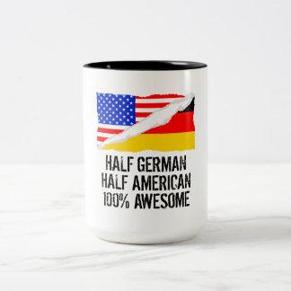 Half German Half American Awesome Two-Tone Coffee Mug