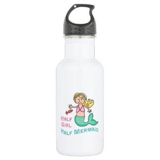 Half Girl Half Mermaid 18oz Water Bottle