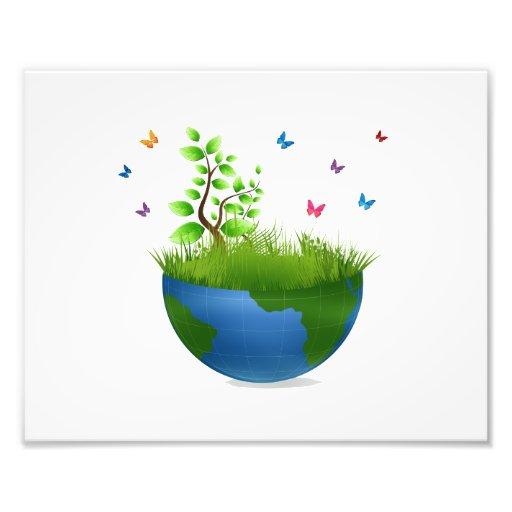 half globe grass butterflies.png art photo
