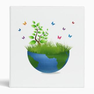 half globe grass butterflies.png vinyl binders