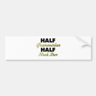 Half Grammarian Half Rock Star Car Bumper Sticker