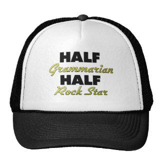 Half Grammarian Half Rock Star Mesh Hats