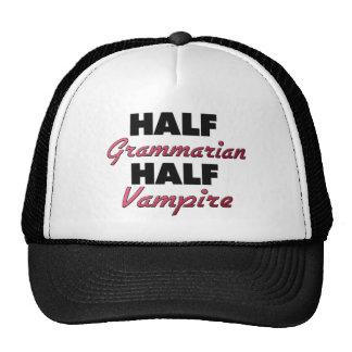 Half Grammarian Half Vampire Mesh Hat