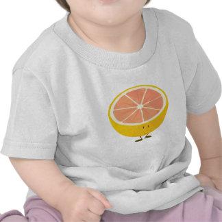 Half grapefruit smiling character tshirts
