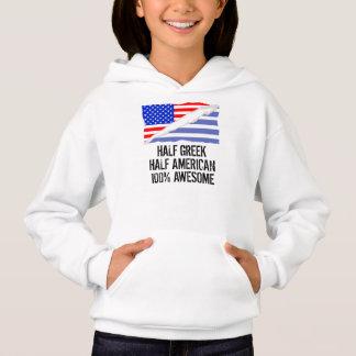 Half Greek Half American Awesome Hoodie