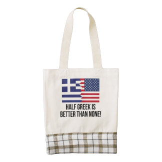 Half Greek Is Better Than None Zazzle HEART Tote Bag