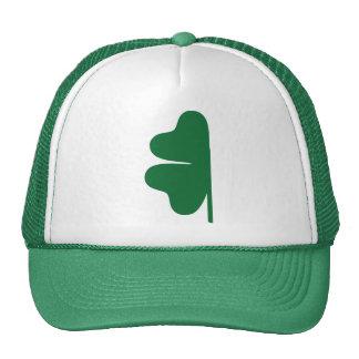 Half green shamrock trucker hat