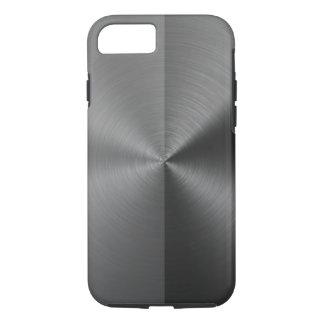 Half Grey & Half Black Radial Metal Pattern iPhone 7 Case
