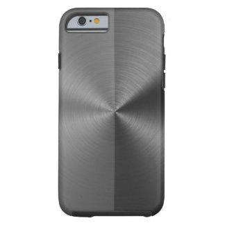Half Grey & Half Black Radial Metal Pattern Tough iPhone 6 Case