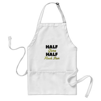 Half Guru Half Rock Star Adult Apron