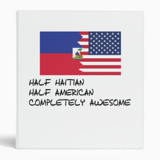 Half Haitian Completely Awesome Binder